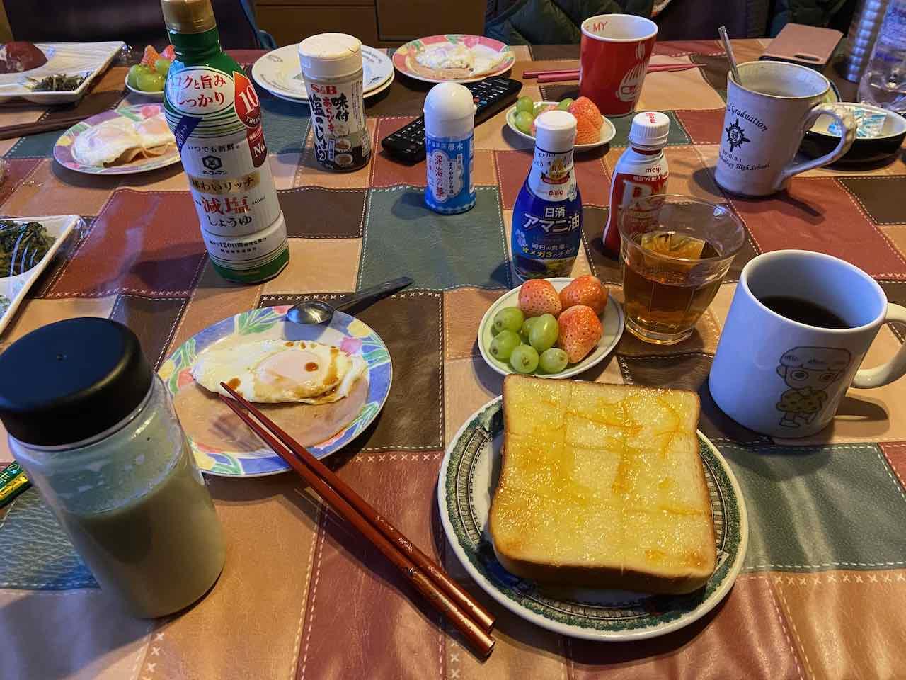 我家の朝食